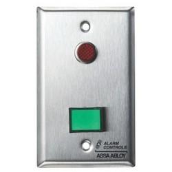"Latching Switch Monitoring/Control Station, (1) DPDT, 1-Gang, 12/24 Volt AC/DC, 3 Ampere at 120 Volt AC/35 Volt DC, 1/2"" Red LED"