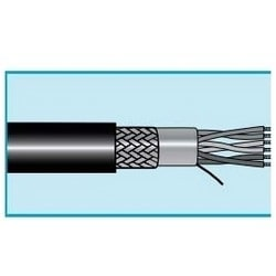 """Data and Bus Cable, Stranded, 1.5-Pair, 22 AWG, 0.3"""" Diameter x 1000' Length, 0.042"""" Jacket Thickness, Tinned Copper Conductor, Polyethylene Insulation, Black PVC Jacket"""