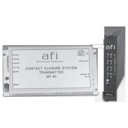 """Contact Closure Receiver, 8-Channel, ST Connector, 1310 Nanometer, 40 Volt AC/DC, 0.5 Milliampere, 3 Watt, 8-1/8"""" Length x 4-1/8"""" Width x 1-1/8"""" Height"""