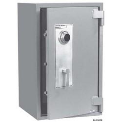 "Security Chest, 2-Shelf, Freestanding, B-Rated, 4320 Cu Inch Capacity, 18-1/2"" Width x 15"" Depth x 20-1/2"" Height, Solid Steel, Gray Textured, With ESL10XL Lock/Door"