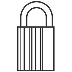 Padlock, Non-Key Retaining, Sub-Assembled, Profile 95, #2, Without Sidebar