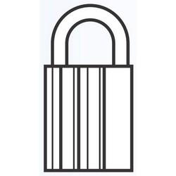 Padlock, Key-Retaining, Sub-Assembled, #2, Without Sidebar
