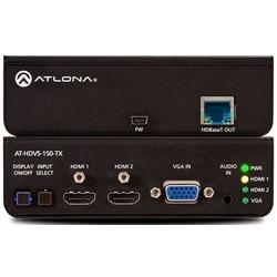"""Transmitter Switcher, HDMI/VGA Input, HD Base-T, 10.2 Gbps Bandwidth, 100 to 240 Volt AC, 50/60 Hertz, 48 Volt DC, 18.7 Watt, 5"""" Width x 4.02"""" Depth x 1.5"""" Height"""
