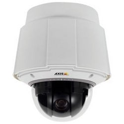 Network Camera, Indoor, Day/Night, PTZ, H.264/MPEG4/JPEG, 1080 Resolution, F1.6 to 4.41 Auto Iris/Auto Focus 4.44 to 142.6 MM Lens, 24 Volt DC, 512 MB RAM, Metal Casing, White
