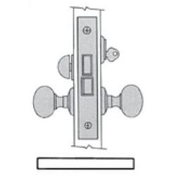 "Door Entrance Lock, Right Hand Reverse Bevel Lever Strength, Knob x Knob/Lever x Lever, 2-1/2"" Backset, Oil Rubbed Bronze, For Entrance/Showroom"