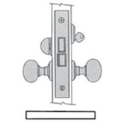 "Door Entrance Lock, Left Hand Lever Strength, Knob x Knob/Lever x Lever, 2-3/4"" Backset, Oil Rubbed Bronze, For Entrance/Showroom"