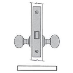 "Door Entrance Lock, Left Hand Lever Strength, Knob x Knob/Lever x Lever, 2-1/2"" Backset, Polished Chrome Plated, For Passage"