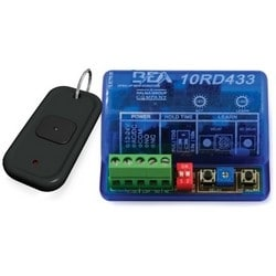 "Wired Transmitter, 1-Button, Digital, 3 Volt Battery, 100 Transmitter, 12 to 24 Volt AC/DC, 3 Milliampere, 433 Megahertz, 1.375"" Width x 2.75"" Depth x 0.6"" Height"