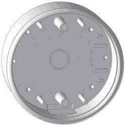 "Pushplate Mounting Box, Round, Surface Mount, 3 and 9 Volt Transmitter Compatibility, 4.5"", ABS Plastic"