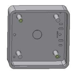 "Pushplate Mounting Box, Square, Surface Mount, 3 and 9 Volt Transmitter Compatibility, 4.75"", ABS Plastic"