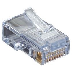 Modular Plug, 1-Piece, Unshielded, Cat 5E, 100 each per Pack