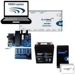 Access Control Door Kit, 4-Door, Includes (4) NetGen UL294 Controller, Prox Mini Reader, (1) BV Express Software, (20) Clamshell Prox Card, PoE Free Laptop, Power Supply
