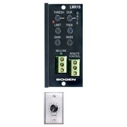 """LINE/MIC Input Module, Fixed Euro Screw, 24 Volt, 18 to 60 dB (MIC), -2 to 40 dB (LINE), 1.375"""" Width x 3.5"""" Depth x 3.125"""" Height, With 4.5 Volt DC Remote Control Panel"""
