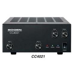 Compact Mixer Amplifier, 2-Input, Priority Level, 80 Hertz to 20 Kilohertz, 24 Volt DC 3 Ampere External Supply, 40 Watt Output