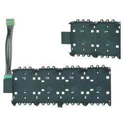 Panel Rail, Short, 2-Module Slot, 24 Volt DC, ABS Plastic, Satin