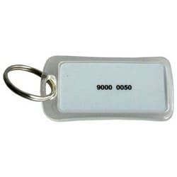 Access Control Keyfob, Proximity, Ring Shape, 1 Kilobyte, Mifare Classic Chip, 13.56 Megahertz, 33 MM Length x 6 MM Width x 33 MM Height, 50 each per Pack