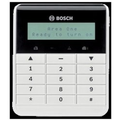"Intrusion Alarm Keypad, 2-Line LCD Display, Alphanumeric, 10-Key, 12 Volt DC, 70 Milliampere Alarm, 4.7"" Length x 1"" Width x 5.5"" Height, ABS Plastic/PMMA, With Icon Function Key"