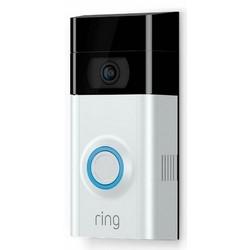 "Video Doorbell, Adjustable Motion Sensor, 1080p HD Resolution, 8 to 24 Volt AC, 5.05"" Length x 2.5"" Width x 1.08"" Height, Stain Nickel Brass"