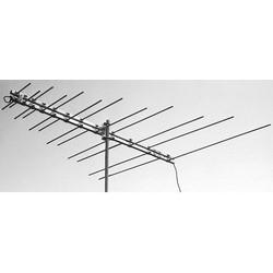 "VHF Broadband Antenna, 12-Element, F Female Connector, 8.2 dBi, 70 Degree Beamwidth, 54 to 88/174 to 216 Megahertz, 75 Ohm, 96.4"" Length Boom, 114.13"" Width Element, Aluminum"