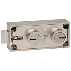 "Safe Deposit Lock, Mosler Group, Fixed Renter/SM75 Guard Stack, 1/2"" Nose Height, Nickel"