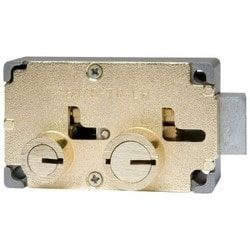 "Safe Deposit Lock, Diebold Group, Left Hand, Big/Little Nose, Fixed Renter/Changeable Guard Key, 1/2"" Nose Height"