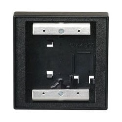 """Door Activation Device Mounting Box, Square, 2-Gang, Surface, Standard, Double Wall, 4-1/2"""" Width x 2"""" Depth x 4-1/2"""" Height, Polymer, Black, For CM-2010/CM-2025 Vestibule Switch"""