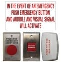 Restroom Emergency Call Kit, Universal, With Pushbutton/LED Annunciator/Sounder/Dome Light/White Panel Sign