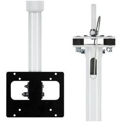 Telescoping LCD/PVM Pole Bracket, Ceiling Mount, 35 Lb Load, 17' Adjustable, Aluminum/Steel, Black