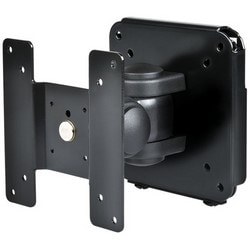 "LCD/PVM Monitor Bracket, Wall Mount, 2-Piece, 3-Axis, 4.92"" Width x 4.86"" Depth x 5"" Height, Steel, Black, With Screw, Tool"
