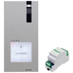"Quadra Video External Unit and Switching Kit, Single Plate Entrance Panel, 2-Wire, 1/4"" CMOS Sensor"