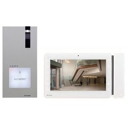 """Video Intercom System Door Entry Kit, Flush/Wall Mount, Includes 7"""" LCD Color Monitor, Power Supply, Quadra Door Entry Station"""