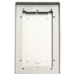 Video Door Entry System Housing, 2-Module, 154 MM Width x 85 MM Depth x 242 MM Height, Natural Anodized Aluminum, With Rain Shield