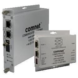 Ethernet Electrical to Optical Media Converter, Standard, 2-Channel, 2-Fiber, 1-Rack Slot, Multimode, SC, 10/100 Mbps Ethernet, 1310 Nanometer, 3 Kilometer, 8 to 24 Volt DC