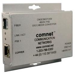 Ethernet Media Converter, 2-Port, 10/100/1000 Mbps, 48 Volt DC, With High Power PoE