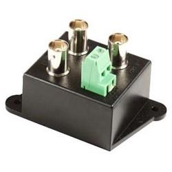 "Video Distributor Amplifier, 10 Hertz to 10 Megahertz, 12 Volt DC, 100 Milliampere, 72"" Length x 50"" Width x 32"" Depth, ABS Plastic, Black, Red LED"