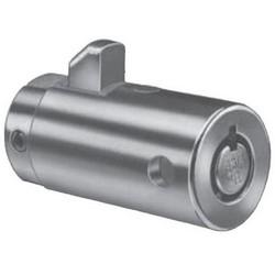 "Cylinder Lock, 7-Pin, Tumbler, Keyed Alike, SP802 Keyway, 3/4"" Diameter x 1-1/2"" Depth, Brass Locking Bolt, Chrome Plated, For Pop-Out Stock Lock"