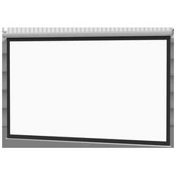 """Spring Roller Screen, Square, Wall/Ceiling Mount, 96"""" Width x 96"""" Height, 22 Gauge Powder Coated Steel Case, Matt White, With Pull Cord"""