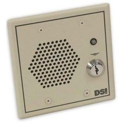 """Door Management Alarm, 8 Ohm, 12/24 Volt AC/DC at 500 Milliampere, 4.6"""" Width x 3"""" Depth x 4.6"""" Height, Beige, With Voice Annunciation, Without Tamper Switch"""