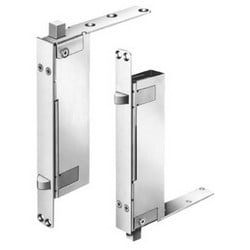 Door Automatic Flush Bolt, Pair, Non-Handed, Patented, Satin Chrome, For Wood Door