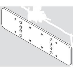 "Door Closer Backplate, Top Jamb Mount, Aluminum, With 2-7/8"" Frame"