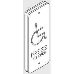 "Door Frame Switch, Hard Wired, 1-3/4"" Width x 4-1/2"" Height"