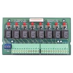 "Relay Board, Plug-In, SPDT, 8-Output, 12 Volt DC Nominal, 7 Ampere at 28 Volt DC, 10 Ampere at 125 Volt AC, 6"" Length x 3.25"" Width x 0.75"" Height"