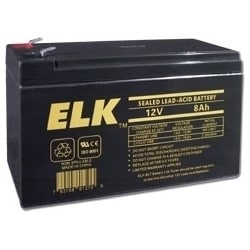 """Lead Acid Battery, Sealed, Rechargeable, 12 Volt, 8 Amp-Hr, 5.94"""" Length x 2.56"""" Width x 3.98"""" Height, With F1 Terminal"""