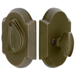 "Door Deadbolt, Single Cylinder, #1 Style, Schlage C Keyway, 2-1/4"" Thickness, Sandcast Bronze, Flat Black, With Flap"