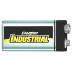 "Industrial Battery, Alkaline, Miniature Snap Terminal, 9 Volt, 1.043"" Length x 1.909"" Width x 0.689"" Height, Zinc Manganese Dioxide Chemical, Metal Jacket"