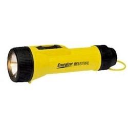 Industrial Flashlight, Heavy Duty, Weatherproof, Shockproof, (2) D Cell, 2.4 Volt, 0.5 Ampere, 16 Lumen, 70 Meter Beam, 60.5 MM Diameter x 203 MM Length, Polypropylene Body, Yellow