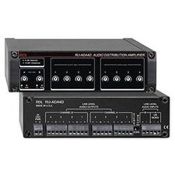 "Audio Distribution Amplifier, 24 Volt DC at 82/120 Milliampere, 10 Hertz to 165 Kilohertz, 5.75"" Width x 3.54"" Depth x 1.65"" Height"