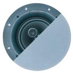 """Stereo Speaker, High Power, 1-Point, In-Ceiling, 6.5"""" Woofer, 92 dB Sensitivity, 125 Watt, 40 Hertz to 20 Kilohertz, 8 Ohm Impedance, 10.125"""" Width x 3.5"""" Depth, Polypropylene"""