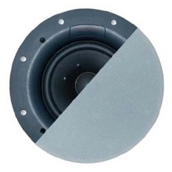 "Speaker System, High Power, In-Ceiling, 6.5"" Woofer, 92 dB Sensitivity, 125 Watt, 40 Hertz to 20 Kilohertz, 8 Ohm Impedance, 10.125"" Width x 3.5"" Depth, Polypropylene"