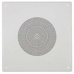 "Paging Speaker, Square, Ceiling Mount, 8"" Dual Pulp Woofer, 92 dB Sensitivity, 25/70 Volt, 5 Watt, 50 Hertz to 15 Kilohertz, 8 Ohm Impedance, 16 Gauge Steel, Pure White Enamel"